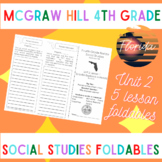 McGraw Hill Fourth Grade Florida Social Studies Unit 2 Foldables Trifold
