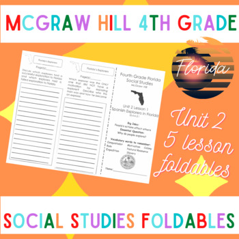 McGraw Hill Fourth Grade Florida Social Studies Unit 2 Foldables Trifold