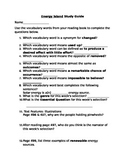 McGraw Hill Fourth Grade Wonders Energy Island Study Guide