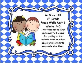 McGraw Hill Wonders Grade 3 Unit 1 Weeks 1-5  Bundle focus