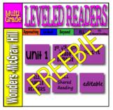 McGraw Hill Grades 3, 4 and 5 Wonders ELL SAMPLER