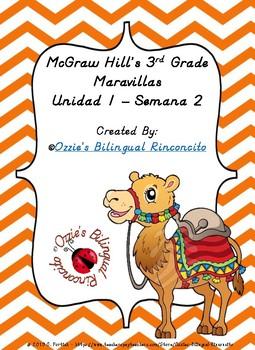 McGraw Hill Maravillas Unidad 1 Semana 2 EFL 3rd Grade Focus Wall