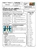 McGraw Hill Maravillas Unidad 3 Semana 2 EFL 3rd Grade Focus Wall