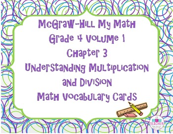 McGraw-Hill My Math Grade 4 Volume 1 Chapter 3 Math Vocabu