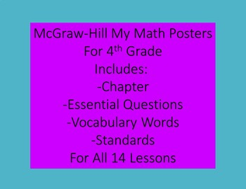 McGraw-Hill MyMath Posters For 4th Grade