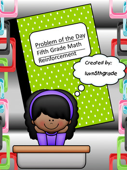 McGraw Hill My Math Problems of the Day Fifth Grade Start Right Back to School!