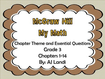 McGraw Hill MyMath: Grade 3 Chapter theme and essential qu