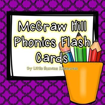 McGraw Hill Wonders Phonics Flash Cards