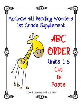 McGraw-Hill Reading WONDERS First Grade Supplement: ABC Order (Units 1-6)