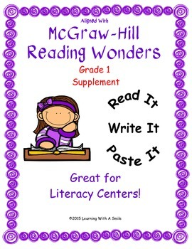 McGraw-Hill Reading WONDERS First Grade Supplement: Read It!-Write It!-Paste It!