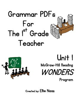 McGraw Hill Reading WONDERS GRAMMAR PDFs For The 1st Grade