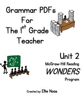 McGraw Hill Reading WONDERS GRAMMAR PDFs Unit 2 First Grade