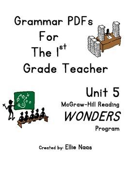 McGraw Hill Reading WONDERS GRAMMAR PDFs Unit 5 First Grade
