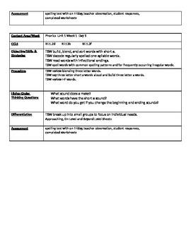 McGraw Hill Reading Wonders 1st Grade Phonics Lesson Plans BUNDLE Units 1-5