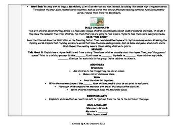 McGraw-Hill Reading Wonders 1st Grade SMART START WEEK 1 Whole Group Plans