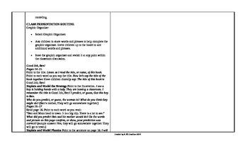 Reading Wonders 1st Grade UNIT 2 ELL Small Group Plans