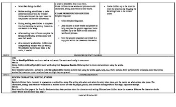 Reading Wonders 1st Grade UNIT 2 On Level Small Group Plans