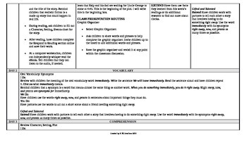 McGraw-Hill Reading Wonders 1st Grade UNIT 3 Beyond Small Group Plans