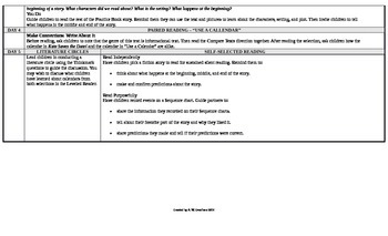 Reading Wonders 1st Grade UNIT 3 On Level Small Group Plans