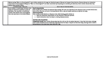 McGraw-Hill Reading Wonders 1st Grade UNIT 4 Beyond Small Group Plans