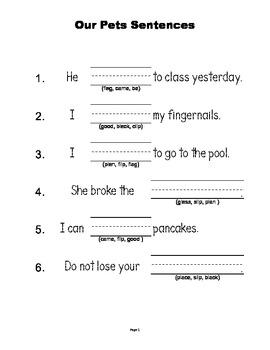 McGraw Hill Reading Wonders © 1st Grade Unit 1 Week 3 Sentences