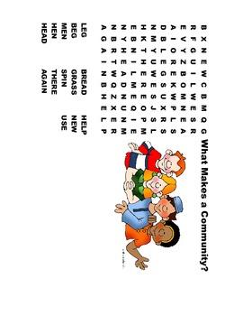 McGraw Hill Reading Wonders © 1st Grade Unit 2 Week 1 Worksheets