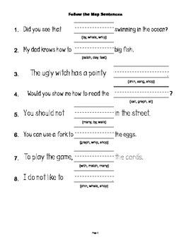 McGraw Hill Reading Wonders © 1st Grade Unit 2 Week 5 Sentences