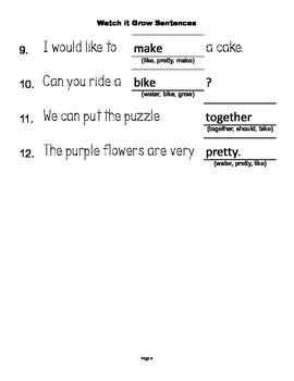McGraw Hill Reading Wonders © 1st Grade Unit 3 Week 2 Sentences