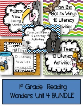 McGraw Hill Reading Wonders 1st Grade Unit 4 BUNDLE