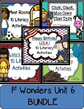 McGraw Hill Reading Wonders 1st Grade Unit 6 BUNDLE