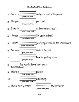 McGraw Hill Reading Wonders © 1st Grade Unit 6 Week 4 Worksheets
