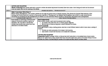 Reading Wonders 2nd Grade UNIT 6 Beyond Small Group Plans