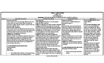Reading Wonders 2nd Grade UNIT 6 On Level Small Group Plans