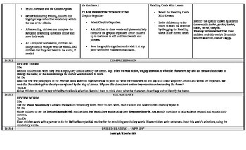 McGraw-Hill Reading Wonders 2nd Grade UNIT 6 On Level Small Group Plans
