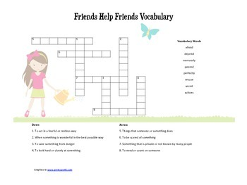 McGraw Hill Reading Wonders © 2nd Grade Unit 1 Week 1 Vocabulary Crossword