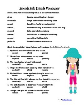 McGraw Hill Reading Wonders © 2nd Grade Unit 1 Week 1 Vocabulary Practice
