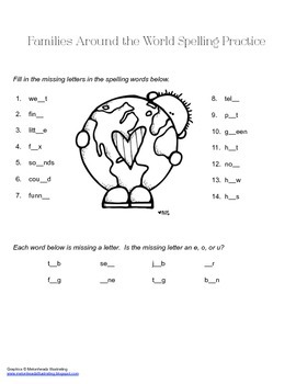 McGraw Hill Reading Wonders © 2nd Grade Unit 1 Week 2 Spelling Practice