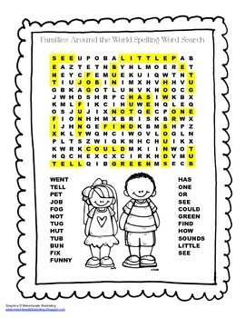 McGraw Hill Reading Wonders © 2nd Grade Unit 1 Week 2 Spelling Word Search