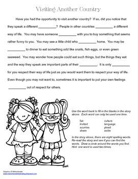 McGraw Hill Reading Wonders © 2nd Grade Unit 1 Week 2 Vocabulary Passage