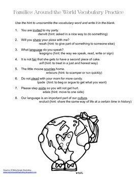 McGraw Hill Reading Wonders © 2nd Grade Unit 1 Week 2 Vocabulary Practice