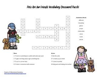 McGraw Hill Reading Wonders © 2nd Grade Unit 1 Week 3 Vocabulary Crossword