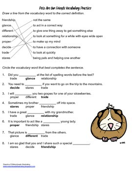 McGraw Hill Reading Wonders © 2nd Grade Unit 1 Week 3 Vocabulary Practice