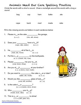 McGraw Hill Reading Wonders © 2nd Grade Unit 1 Week 4 Spelling Practice