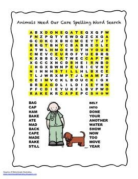 McGraw Hill Reading Wonders © 2nd Grade Unit 1 Week 4 Spelling Word Search