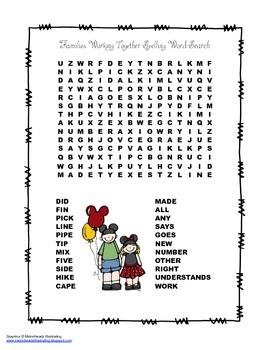 McGraw Hill Reading Wonders © 2nd Grade Unit 1 Week 5 Spelling Word Search