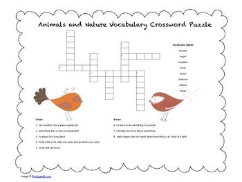 McGraw Hill Reading Wonders © 2nd Grade Unit 2 Week 1 Vocab Crossword Puzzle