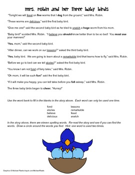 McGraw Hill Reading Wonders © 2nd Grade Unit 2 Week 2 Vocabulary Passage