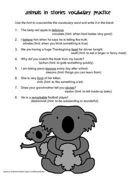 McGraw Hill Reading Wonders © 2nd Grade Unit 2 Week 2 Vocabulary Practice