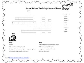 McGraw Hill Reading Wonders © 2nd Grade Unit 2 Week 3 Vocab Crossword Puzzle