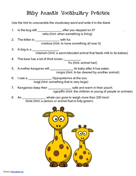 McGraw Hill Reading Wonders © 2nd Grade Unit 2 Week 4 Vocabulary Practice